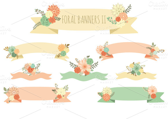 Floral Banners II