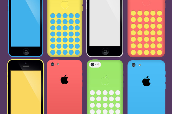 50% OFF-iPhone 5c PSD Pack
