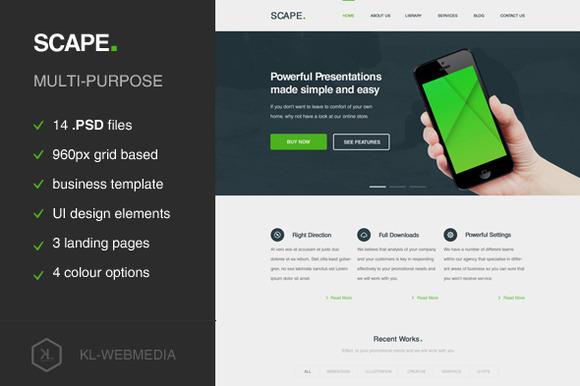 Scape Presentation PSD Template