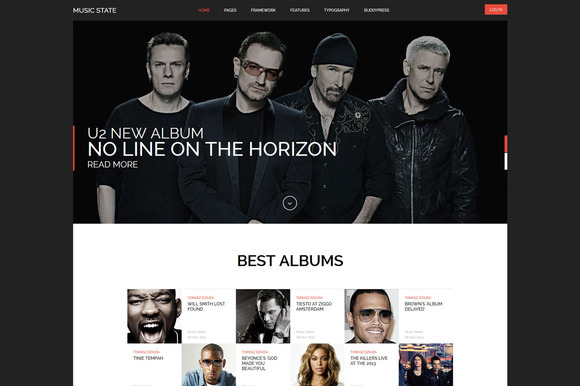 Music State BuddyPress WP Theme