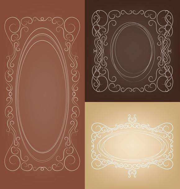 Set Of Elegant Rich Ornate Frame