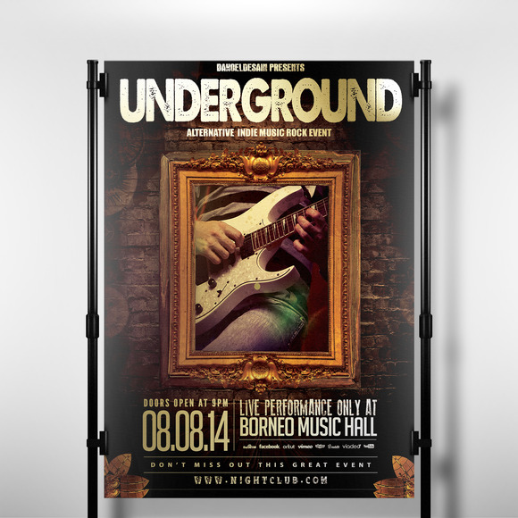 Indie Night Underground Music Flyer