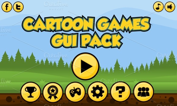 Cartoon Game GUI Pack 1