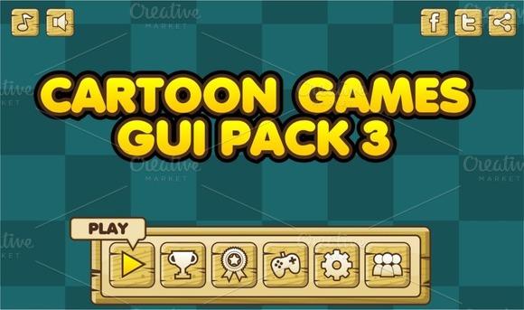 Cartoon Games GUI Pack 3