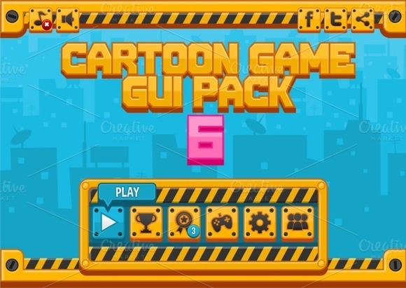 Cartoon Games GUI Pack 6