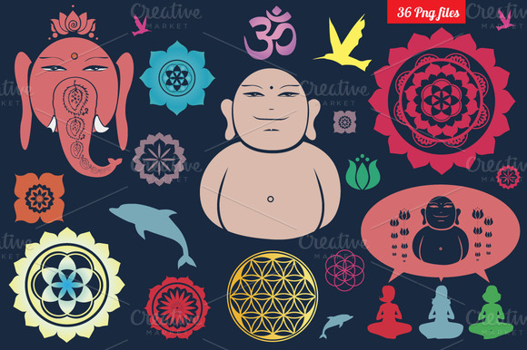 Buddhist Symbols Png Clipart