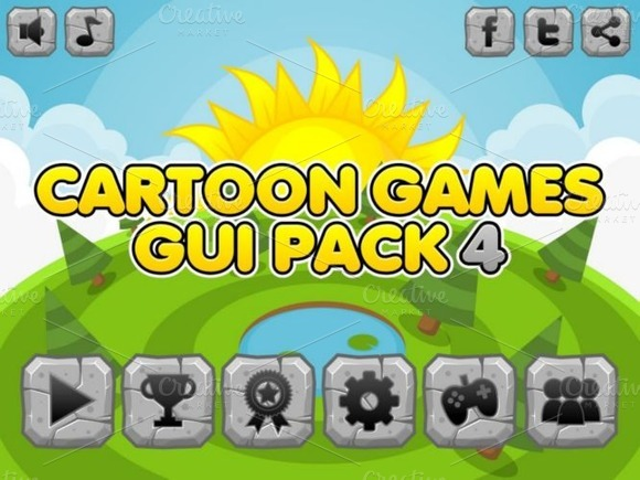 Cartoon Games GUI Pack 4