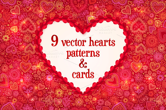 7 Valentines Backgrounds 2 Cards
