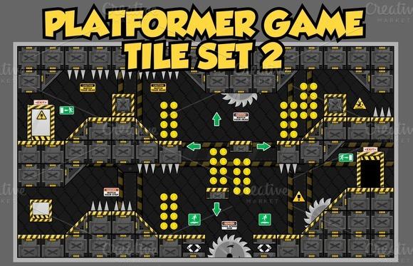 Platformer Game Tile Set 2