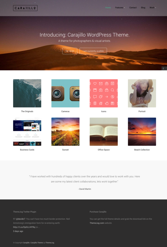 Carajillo Photography Theme