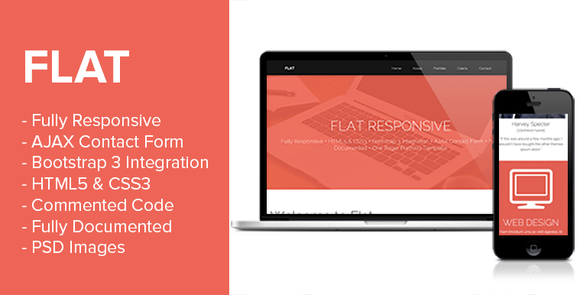 Flat Premium Responsive Portfolio