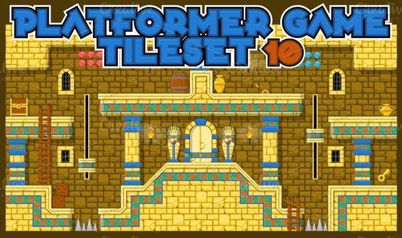 Platformer Game Tile Set 10