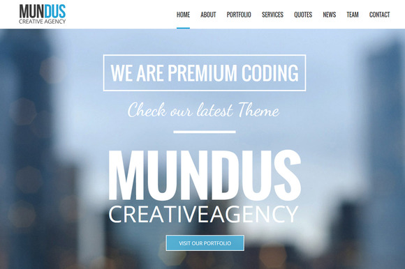 Mundus Business One Page Wordpress