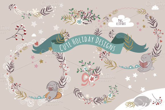 Cute Holiday Designs PNG Clipart