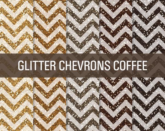 Glitter Chevron Textures Coffee Bean