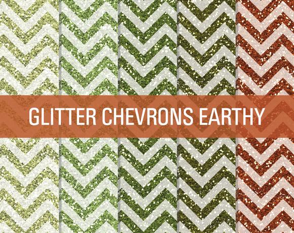 Glitter Chevron Textures Earthy
