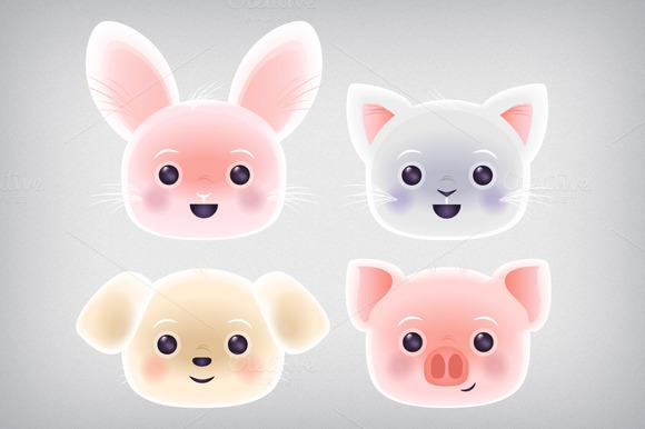 Cute Kawaii Pets Clip Art