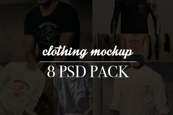 8 Realistic Shirt Mockups