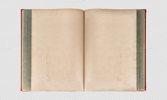 PNG Open Old Book Transparent Back