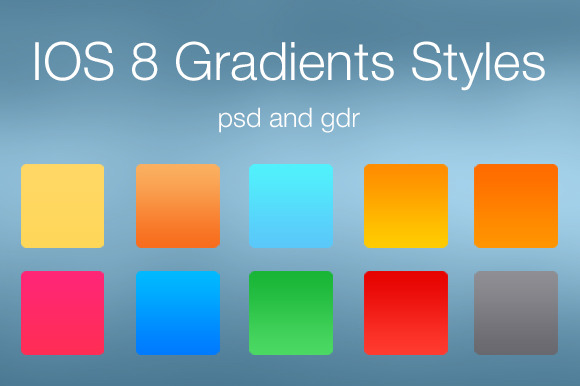 IOS 8 Gradients Styles