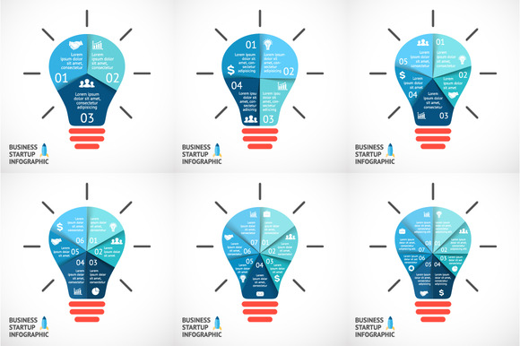 6 Vector Bulbs For Your Startup