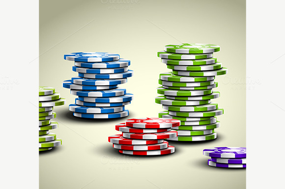 Colorful Casino Chips