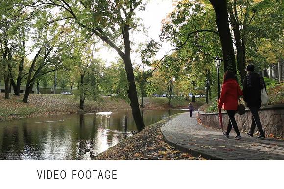 City Park In The Centre Of Riga
