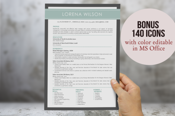3 In 1 Simple Banner Word Resume