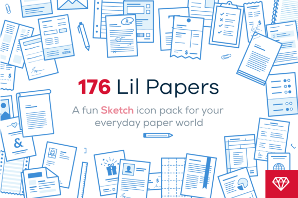 Lil Papers 176 Icons For Sketch