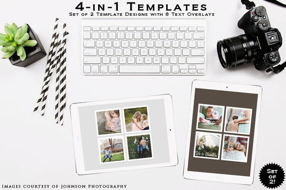 4-in-1 Templates SETof2