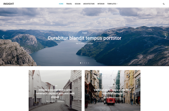 Insight Minimal Magazine WP Theme