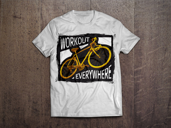 Workout Everywhere T-shirt Design