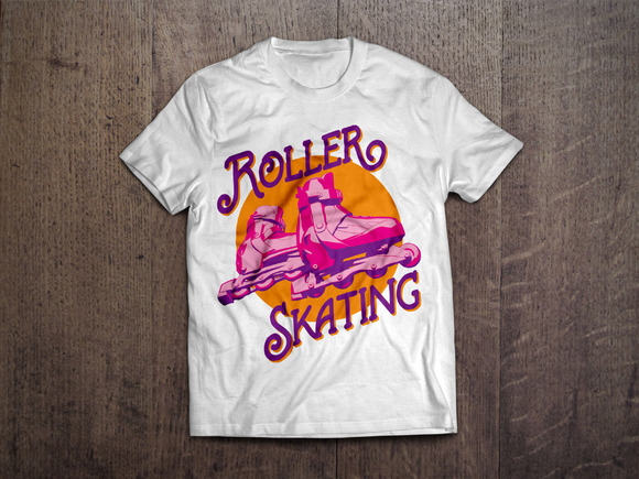 Roller Skating T-shirt Design