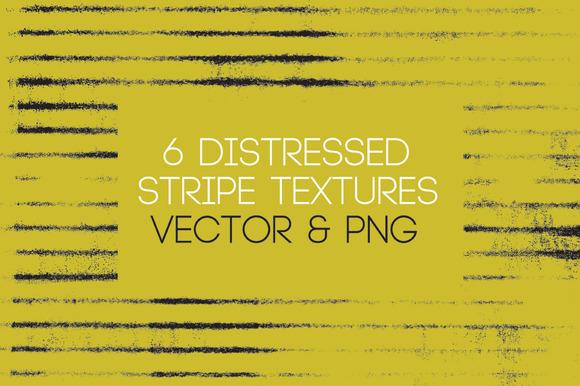 6 Distressed Stripe Texture Vectors
