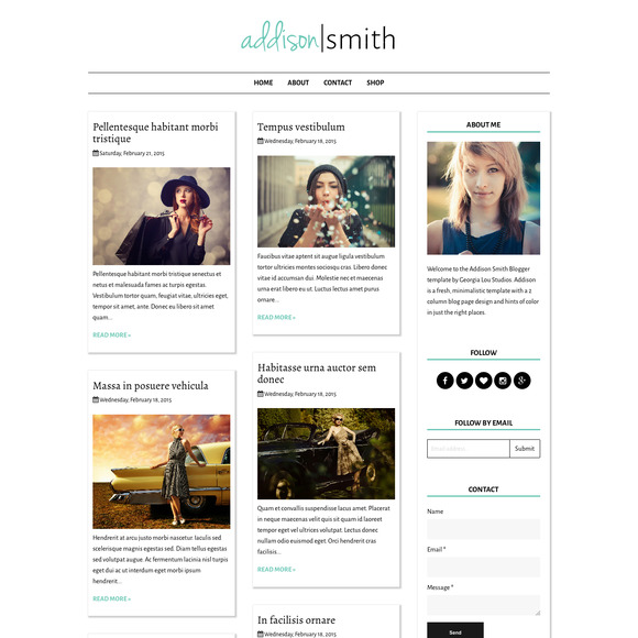 Responsive Blogger Template-Addison