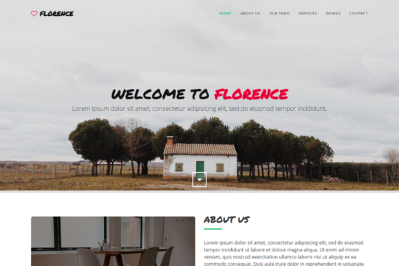 Florence One-Page Template