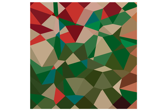 Amazon Green Abstract Low Polygon Ba
