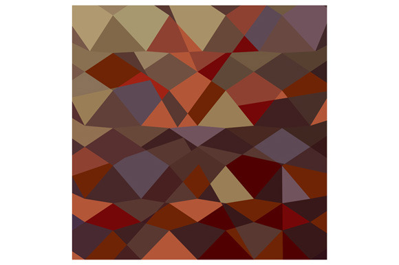 Butterscotch Brown Abstract Low Poly