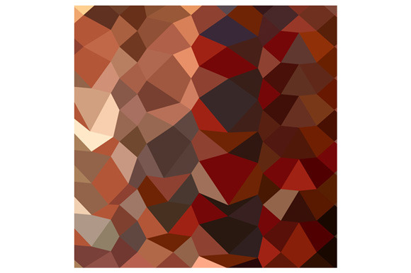 Dark Pastel Red Abstract Low Polygon