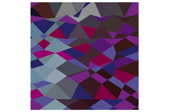 Deep Magenta Abstract Low Polygon Ba