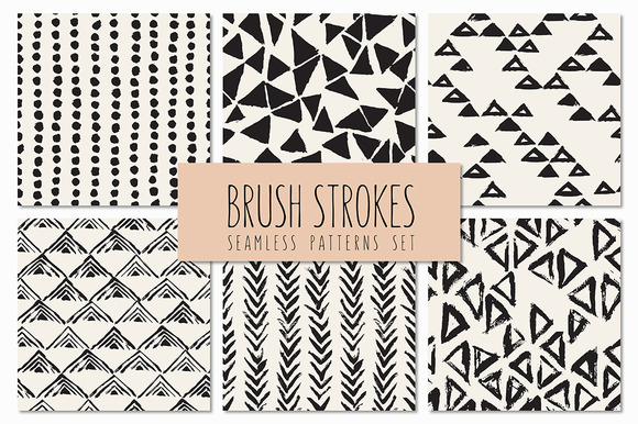 Brush Strokes Seamless Patterns V.4