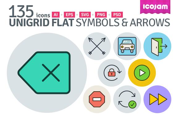 UniGrid Flat Symbols Arrows