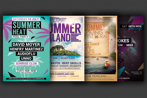 The Summer Party Flyer Bundle