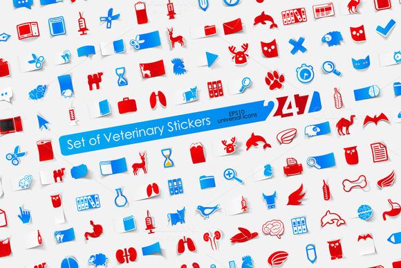 247 VETERINARY Stickers