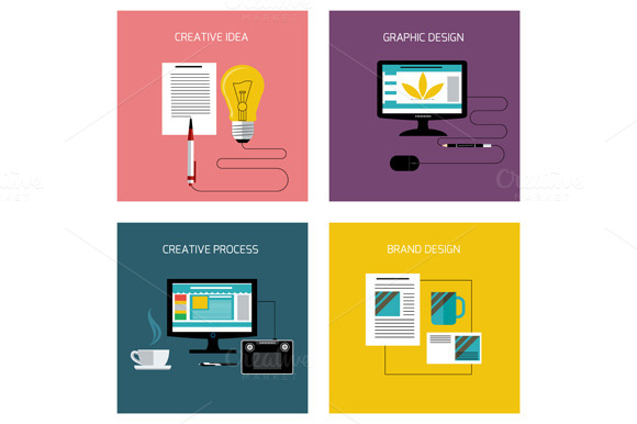 Set Of Creative Branding Graphic