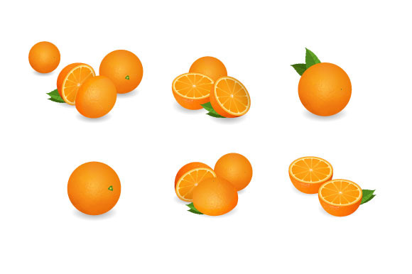 Photo-realistic Orange Set