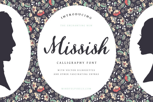 Missish Calligraphy Font Extras