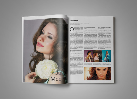 Clean Modern Magazine Template
