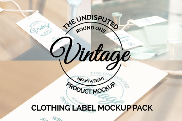 Clothing Label Mockup Pack 50% Off