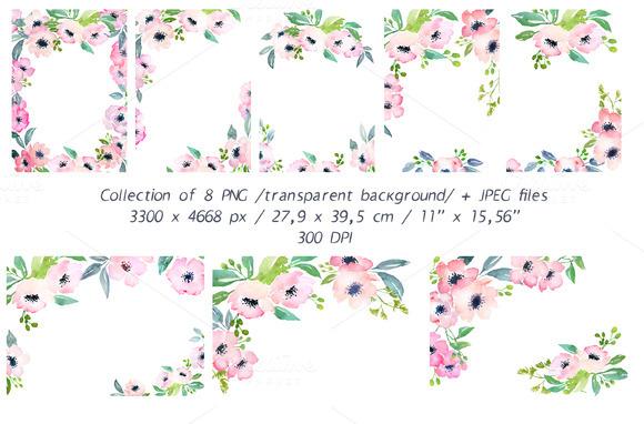 Watercolor DIY Card Graphics Set